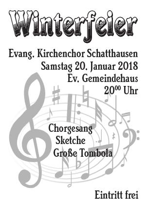 Plakat Winterfeier des Kirchenchores 2018