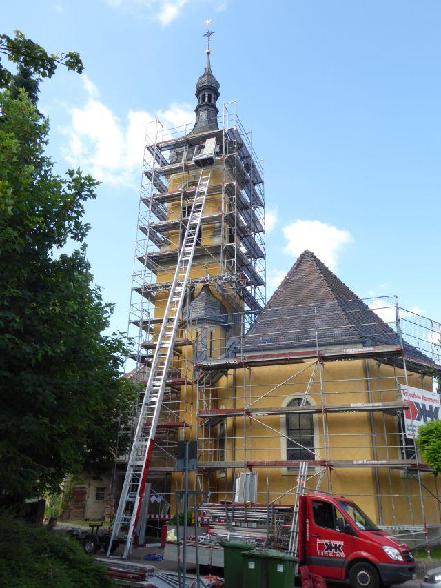 Gerüst Kirchturm