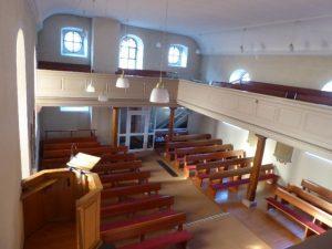 Innenraum von der Orgel